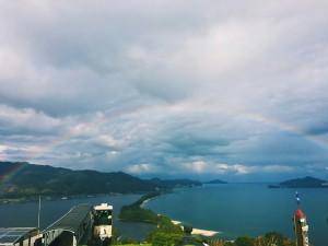平成28年11月虹と飛龍観