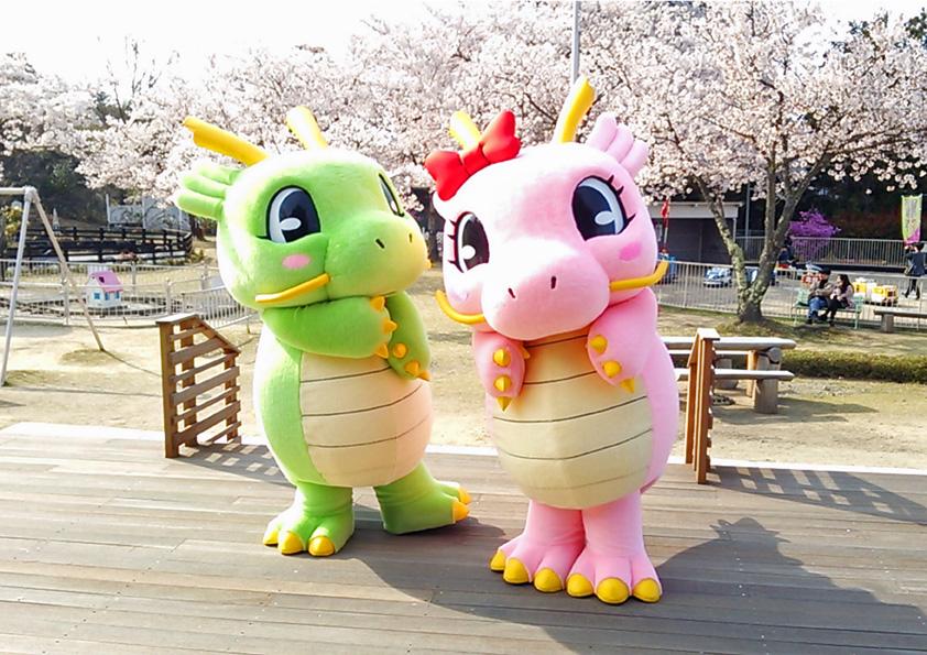 桜とキャラクター